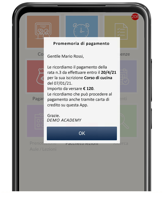 app promemoria pagamenti scuola