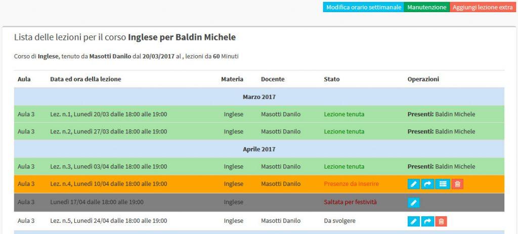 software agenda lezioni scuola