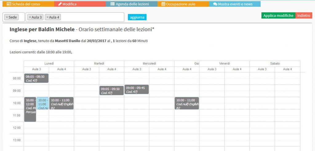 software calendario delle lezioni